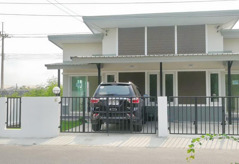 ขายบ้านแฝดชั้นเดียวสร้างใหม่พร้อมที่จอดรถ ม.ธัญญาพร2 ถ.รังสิต-นครนายก คลอง8 ธัญบุรี