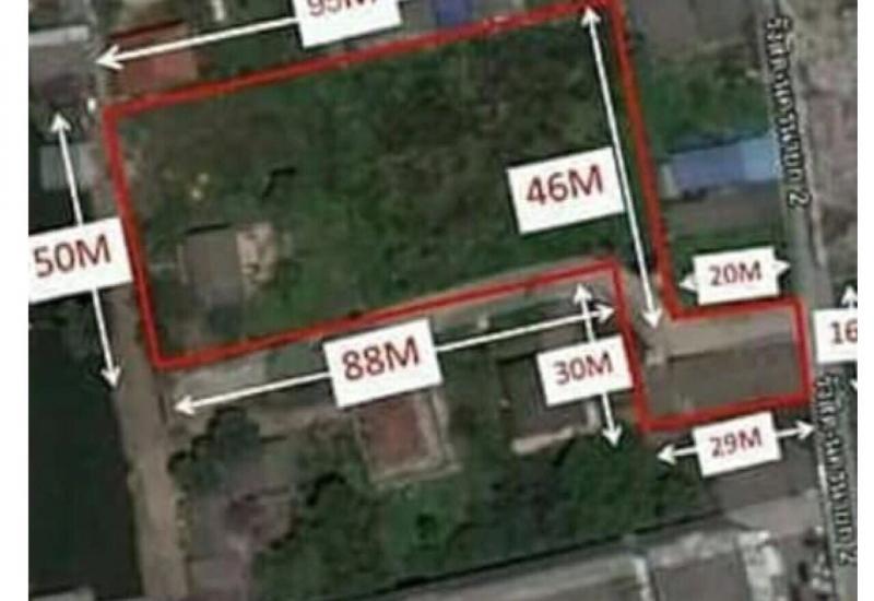 ขายที่ดิน 3ไร่ 156 ตารางวา ติดฟิวเจอร์พาร์ครังสิต ที่ตั้ง พหลโยธิน94