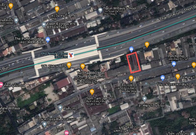 ขายที่ดิน 273 ตารางวา ติดสถานีรถไฟฟ้าโพธินิมิตร
